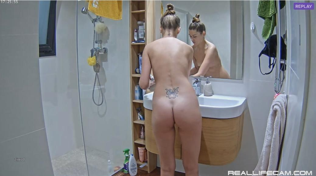 RealLifeCam Asty Vacations Girls Amazing Body Shower