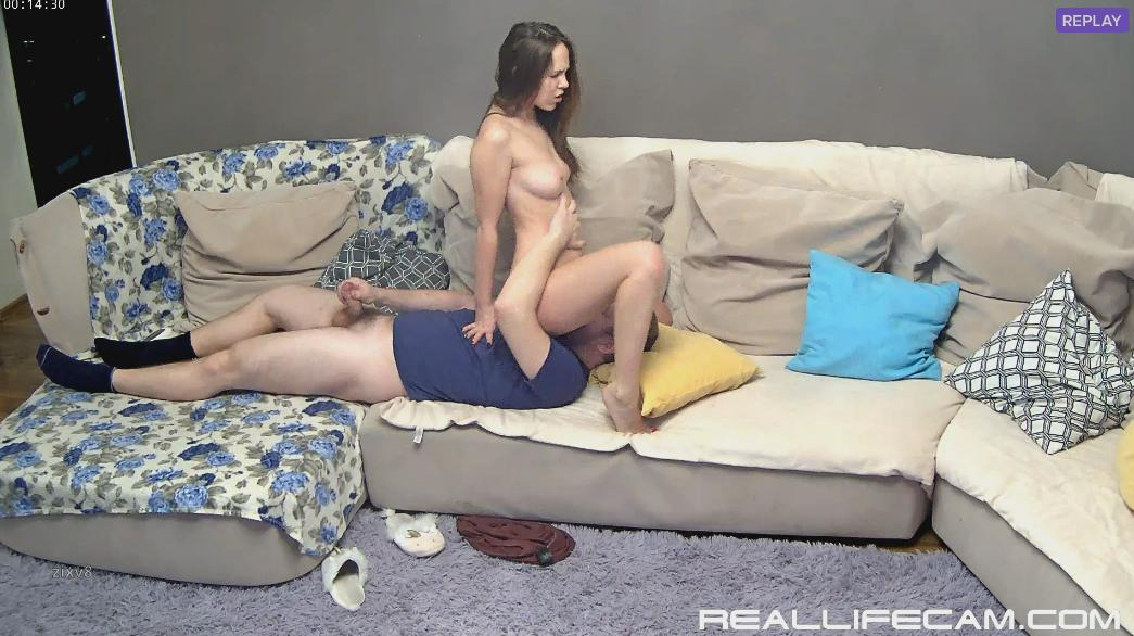 RealLifeCam HD Leora and Paul Forced Pussy Eating and Fuck