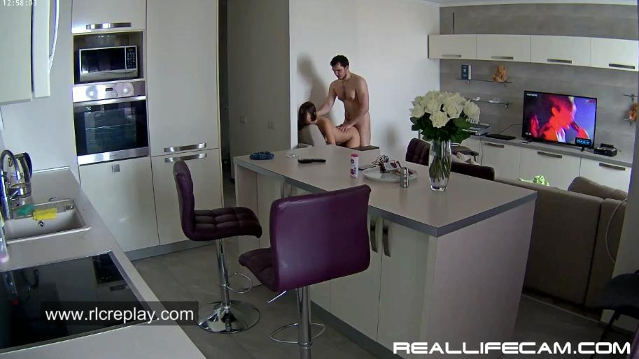 RealLifeCam Lana and Robert Hardcore Sex in LivingRoom