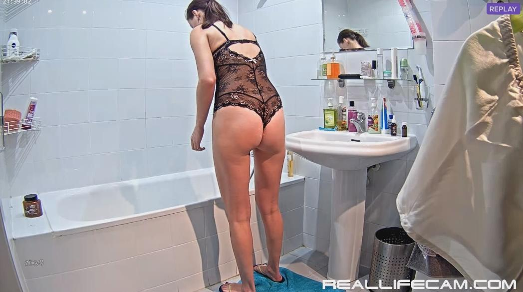 RealLifeCam Luci Sexy Wife Shower After Sex in Bathroom