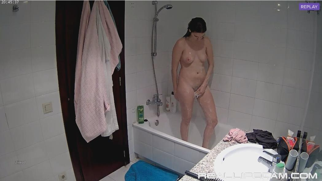 Martina Sexy TEEN Shower in Bathroom at RealLifeCam Voyeur Cam