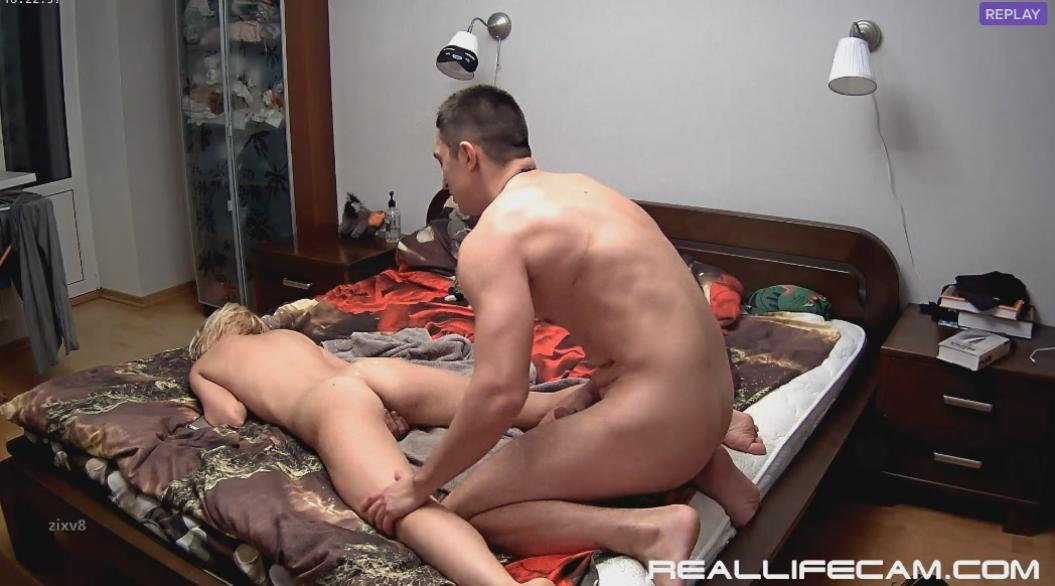 RealLifeCam Nelly and Bogdan Behind Hard Fuck in Bedroom