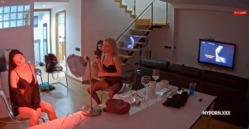 RealLifeCam Irma, Danaya and Karol Naked Photo shoot in livingroom