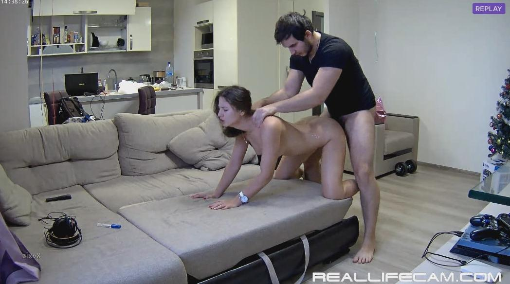 Lana and Robert HD Hardcore Sex in Living Room at RealLifeCam 2018 HD Sex Video