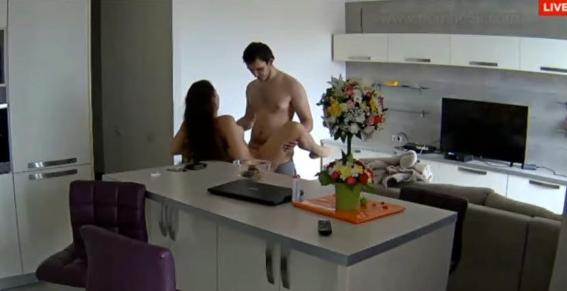 Lana and Robert Hardcore Sex in Kitchen