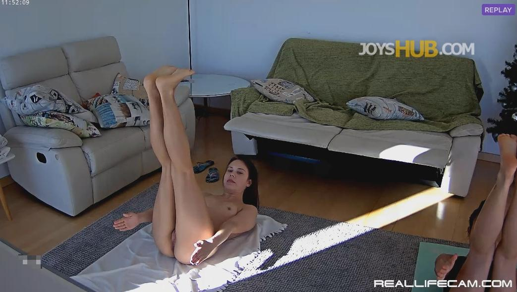 RealLifecam Neia and Nicole Hot Naked Young Girls Yoga Workout Part 1