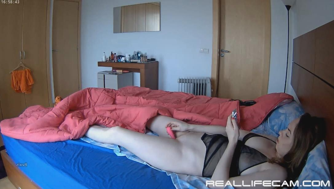 RealLifeCam Beatrice Morning Pink Dildo Masturbation