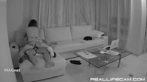 RealLifeCam Desiree and Raul Sex in Living Room