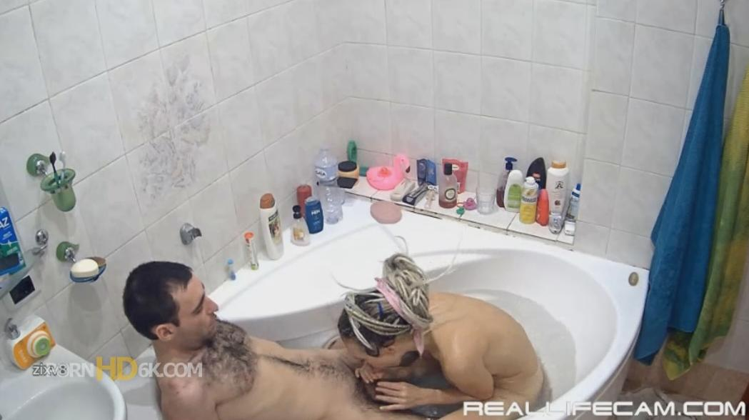 Masha and Sasha Shower and Hot Blowjobs at RealLifeCam