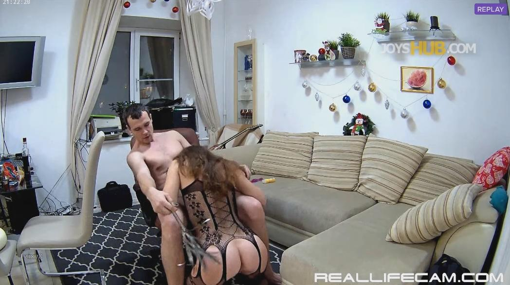 Eva and Sam Couple Fantasies Hot Body Stockings PART2 at RealLifeCam