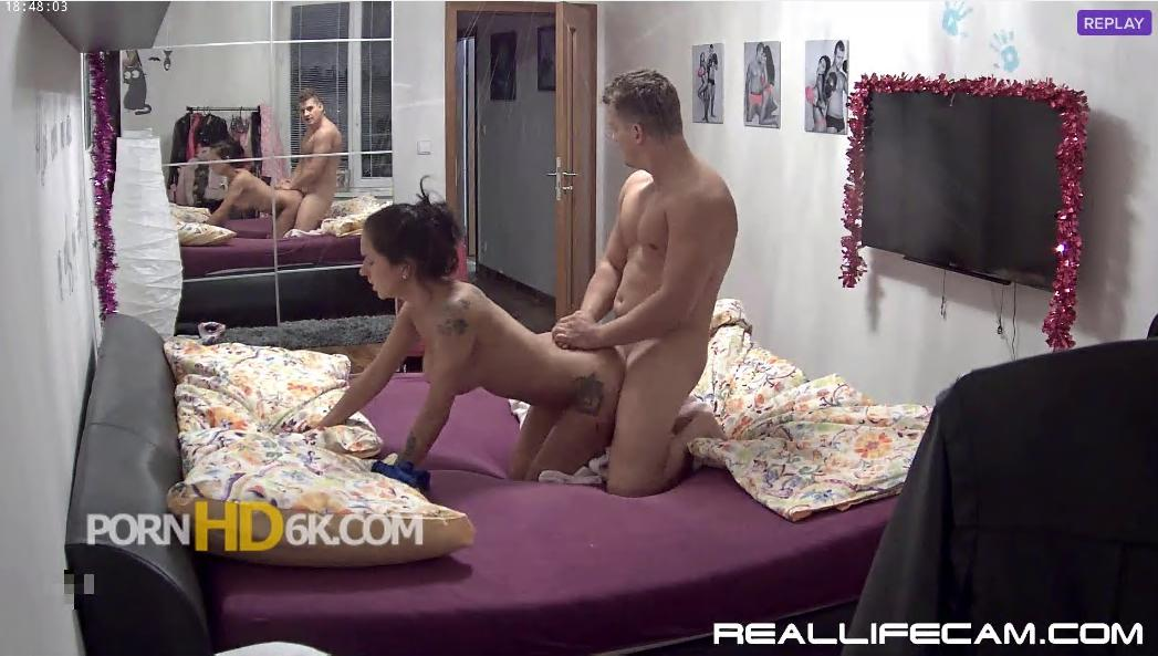 Linda and Tibor Shower and Best Fuck in Bedroom at RealLifeCams
