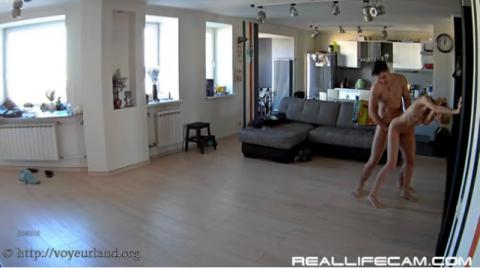 Nelly and Bogdan Sex in Living Room 20-10-2016