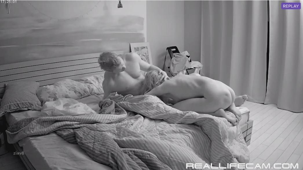 RealLifeCam Taya and Will Midnight Blowjobs Sex Video 2018