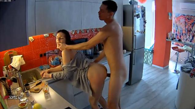 RealLifeCam Jane and Dick Fucked Rough in the kitchen