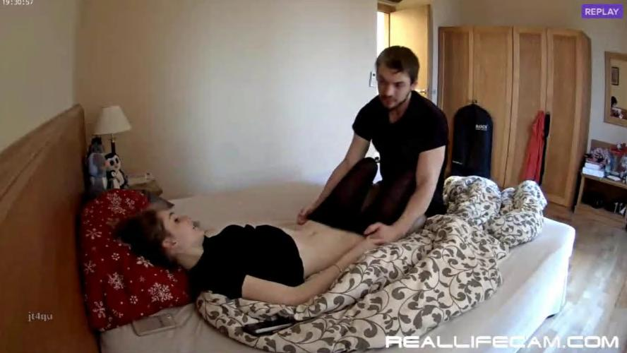 RealLifeCam Julia and Eric Horny Couple Nice Fuck in Bedroom
