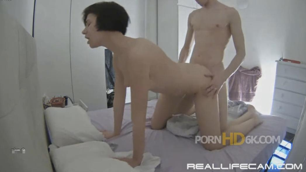 Mira and Kai Hard Doggy Sex in Bedroom at RealLifeCam HD 2018 Sex