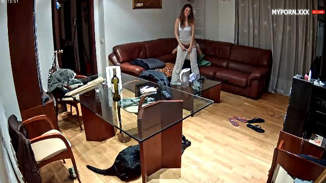 RealLifeCam Replay - Martina and Alberto Excellent Sex in the livingroom