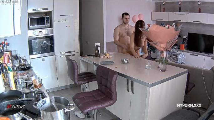 Lana and Robert Intense Sex in the livingroom