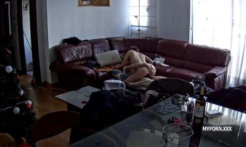 Martina & Alberto Suck and Fucked in livingroom