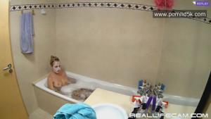 RealLifeCam Gina Hot Blonde Babe Shower