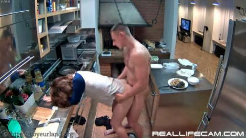 Stesha and Marco Sex in Kitchen