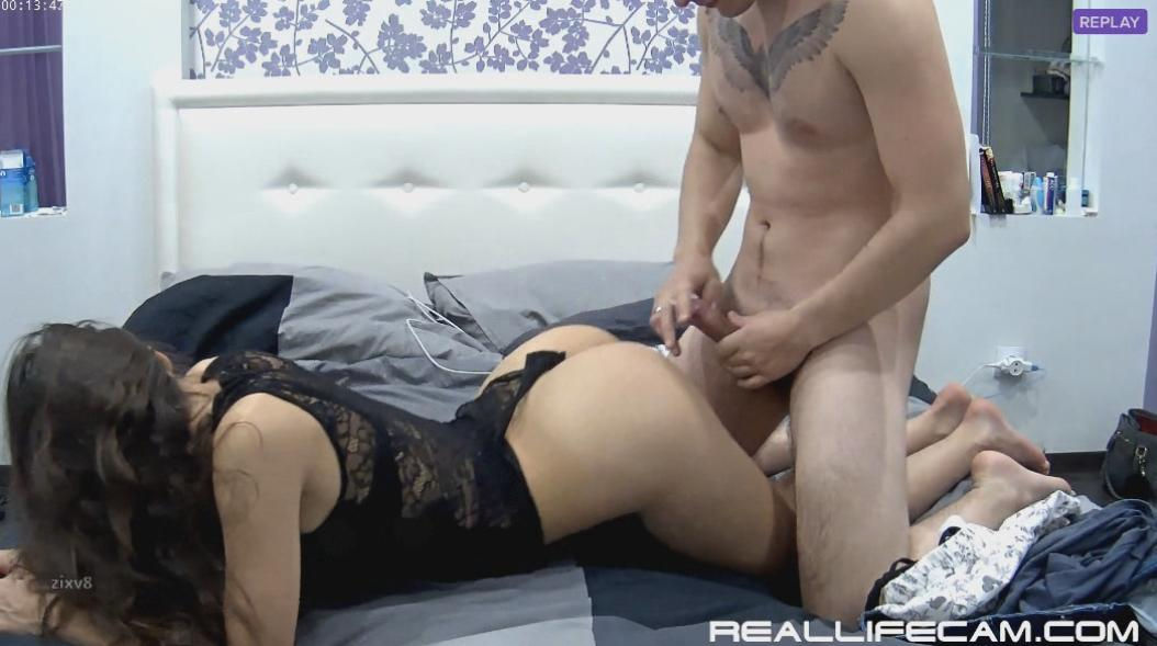 Adeline and Markus Teen Body Stocking Lingerie Rough Fuck at RealLifeCam