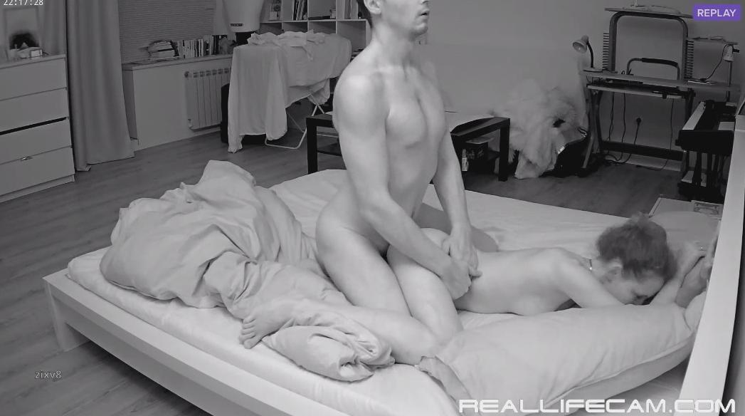 Eva and Sam Voyeur Anal Sex in Bedroom at RealLifeCam 2018 HD Sex