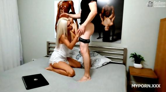 SpyGasm Russel an Selina Cuckold Contest Sex Video