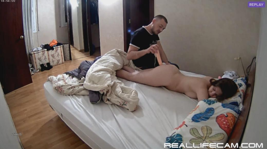 RealLifeCam Martina Morning Orgasm Big Dildo Hardcore Masturbation