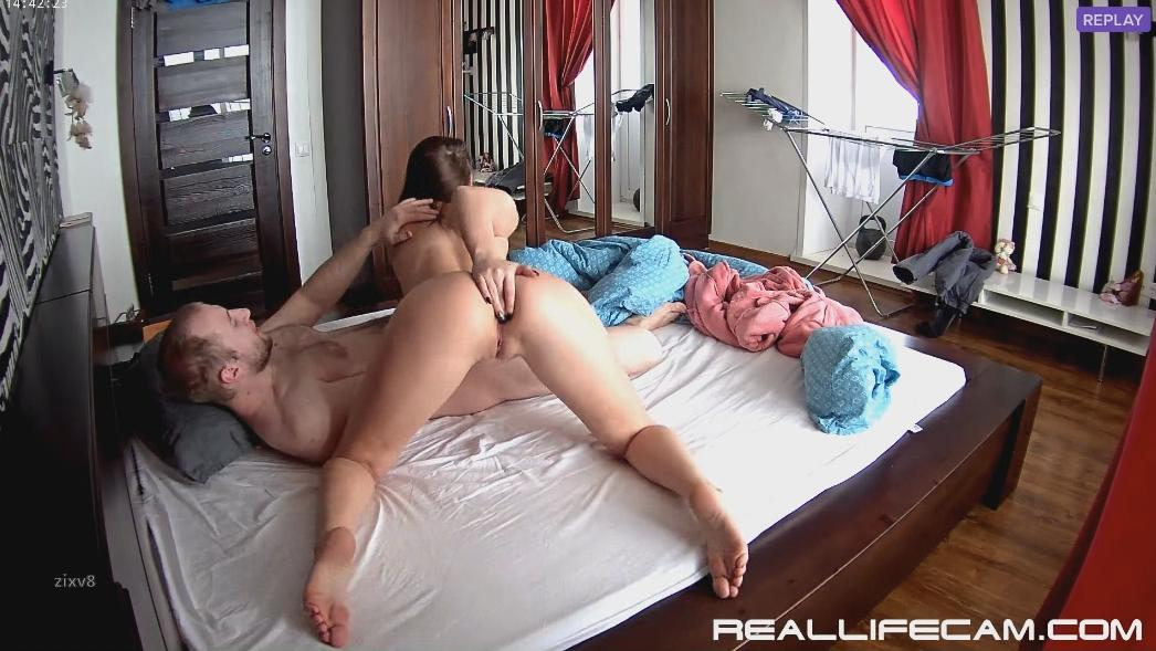 Leora and Paul Oral Sex! begs for Cum in Mouth! at RealLifeCam HD Sex 2018