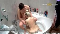 RealLifeCam Masha Sister Rough Sex in Jacuzzi