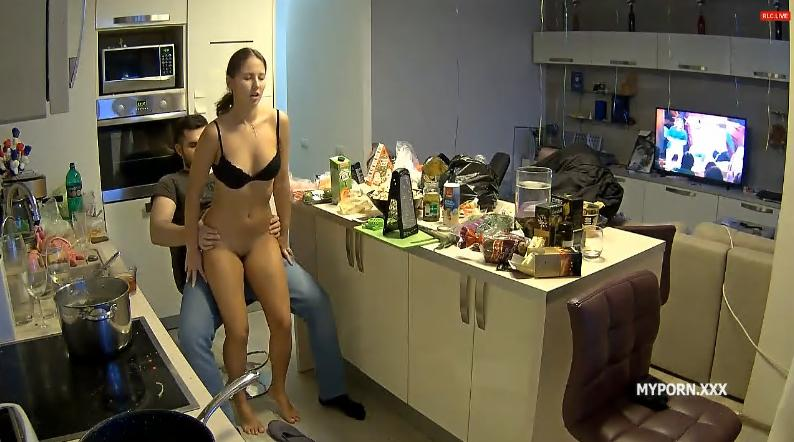 Reallifecam Lana and Robert Cock Riding in Kitchen